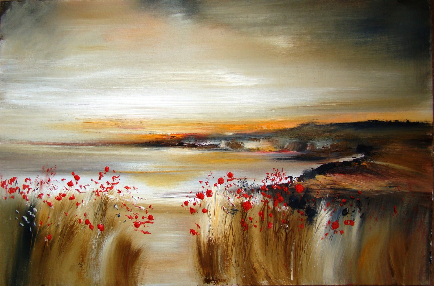 'Poppies as the sun goes down' by artist Rosanne Barr