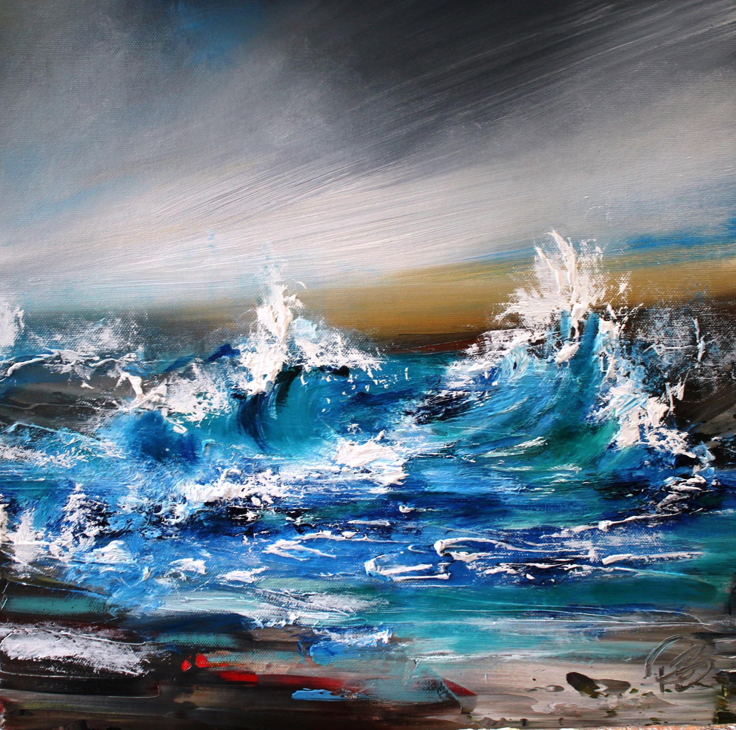 'Stormy Waves' by artist Rosanne Barr