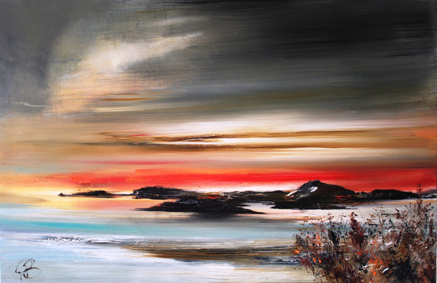 'The Isles at Sunset' by artist Rosanne Barr