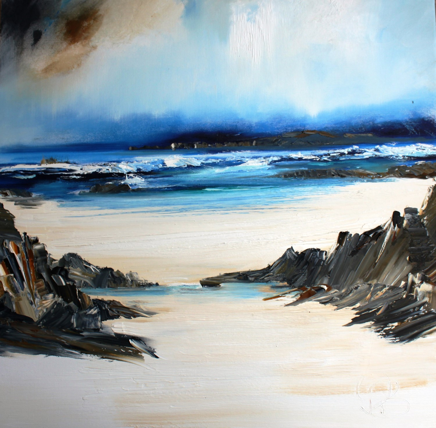 'The White Sands on the West Coast' by artist Rosanne Barr