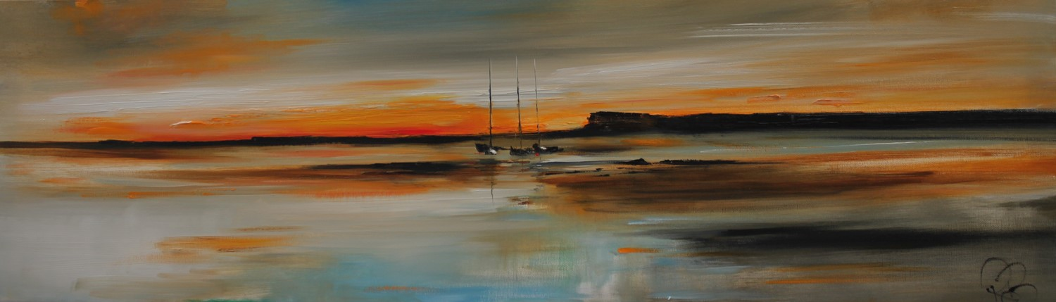 'Yachts at Sunset' by artist Rosanne Barr