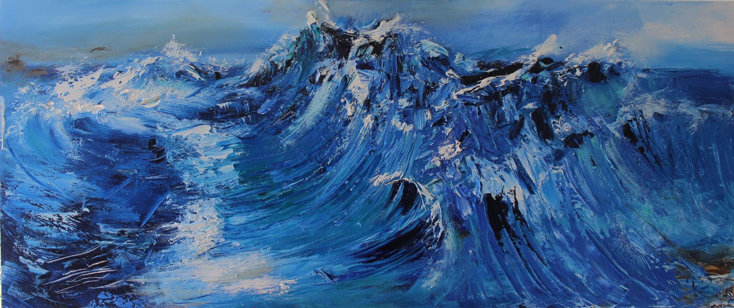 'Chasing Waves' by artist Rosanne Barr