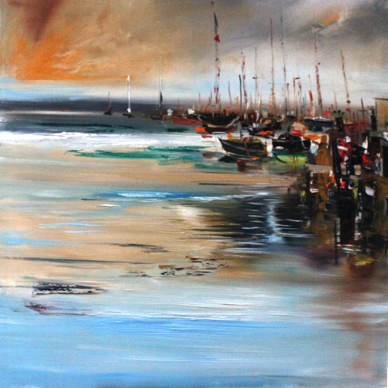 'Boats in The Bay' by artist Rosanne Barr