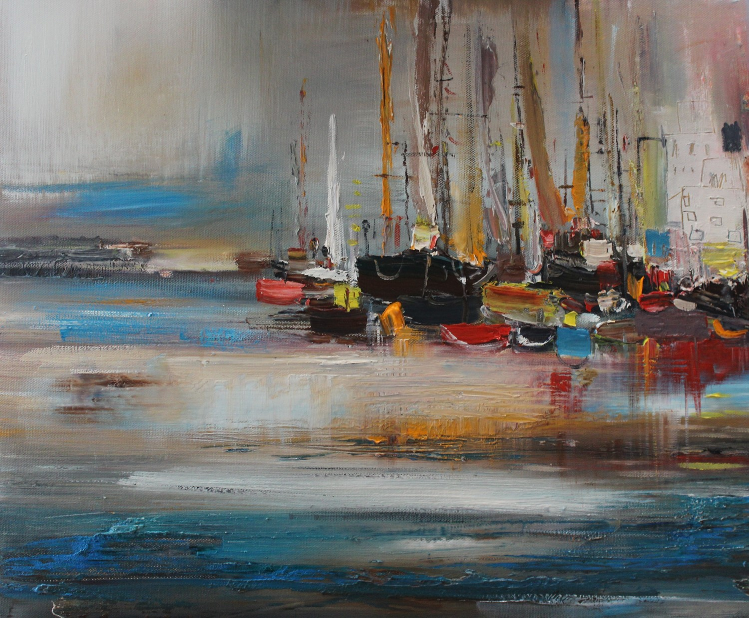 'Boats in Port' by artist Rosanne Barr