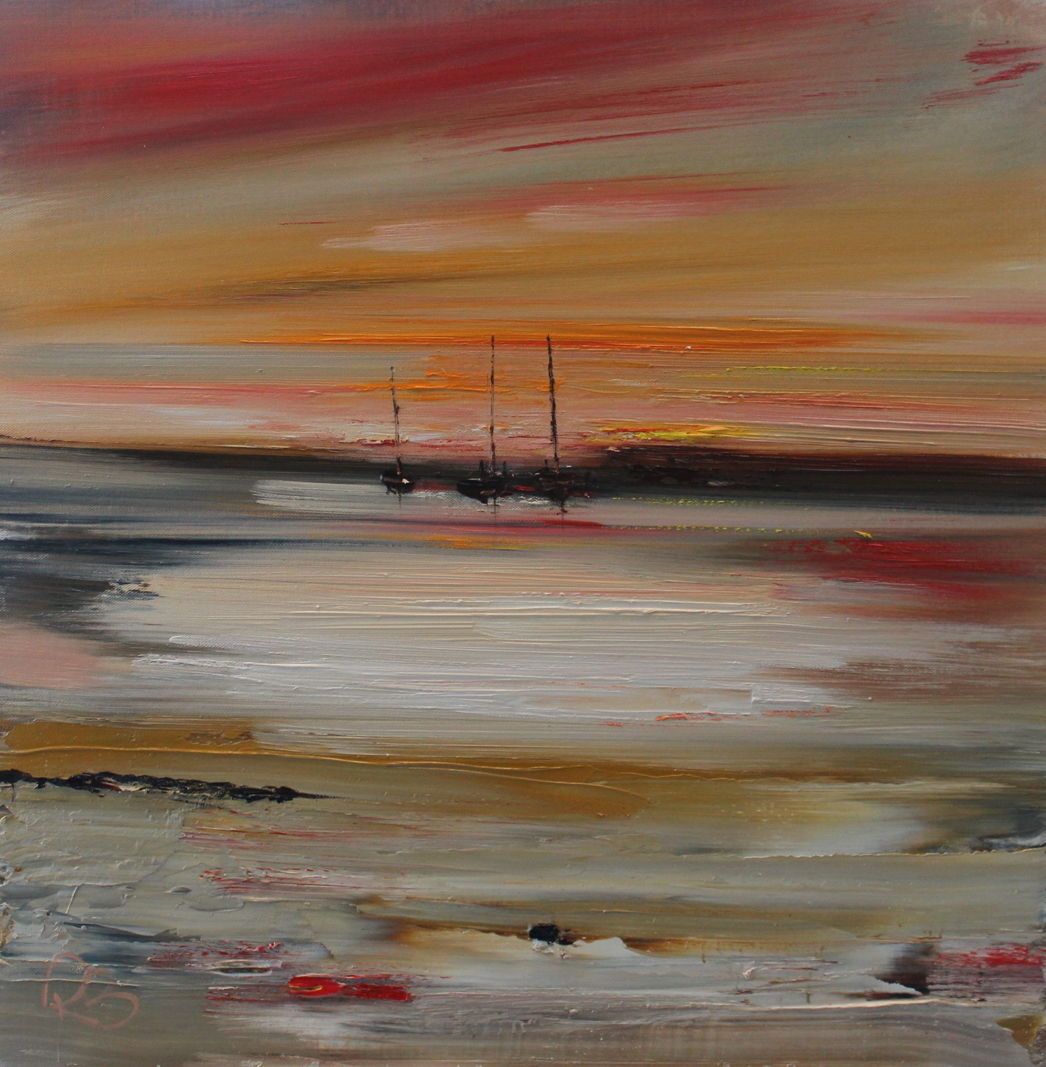 'Distant Yachts' by artist Rosanne Barr