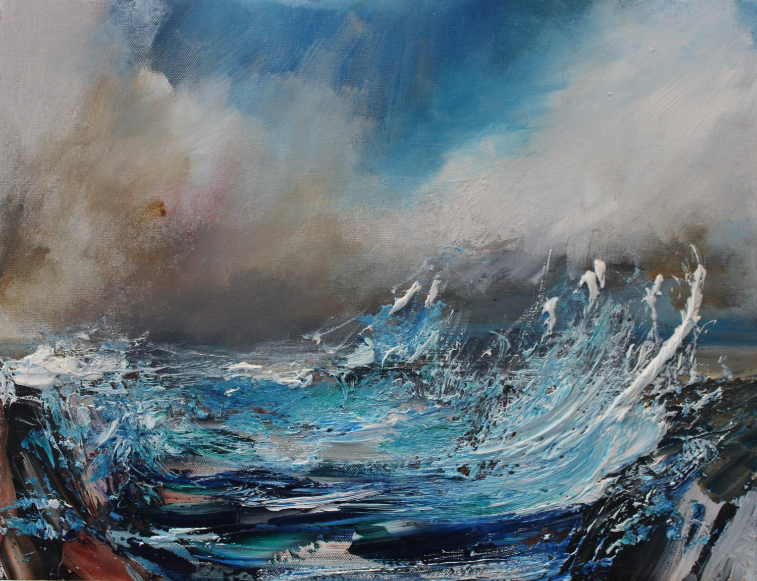 'Incoming Sea Spray' by artist Rosanne Barr