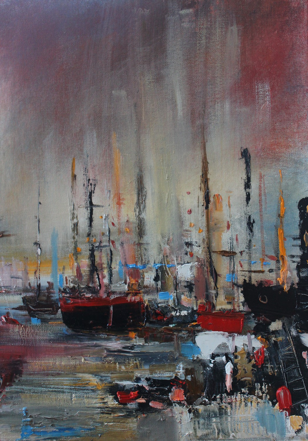 'Night Harbour' by artist Rosanne Barr