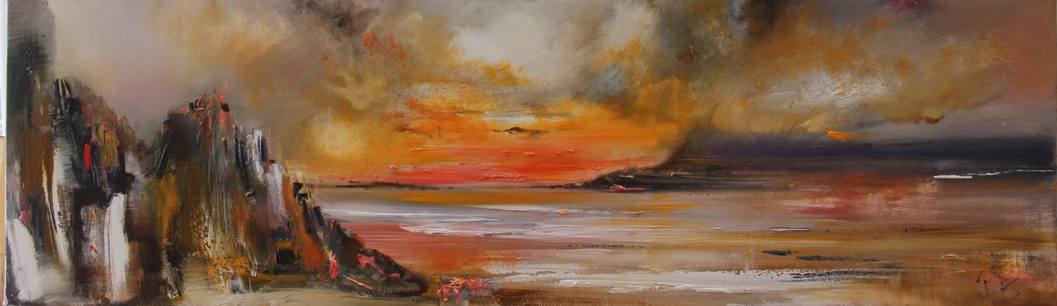 'A Clouded Sunset' by artist Rosanne Barr