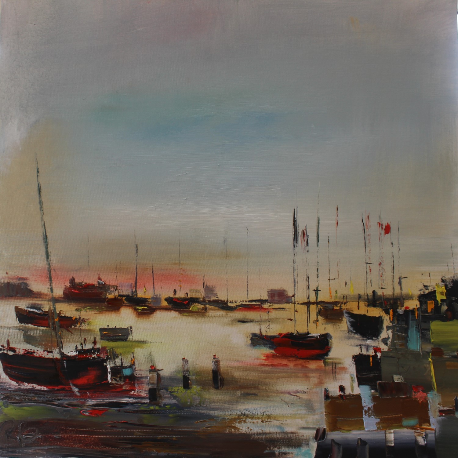 'Harbour Silhouettes' by artist Rosanne Barr