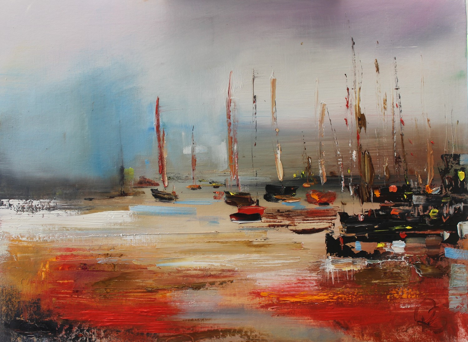'Heading to the Harbour' by artist Rosanne Barr