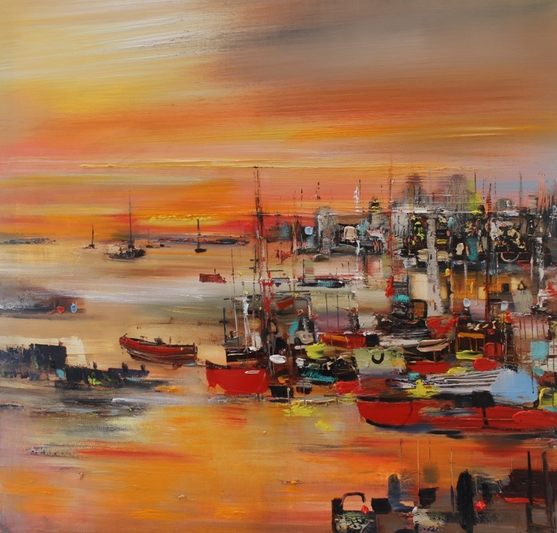 'The Old Town Harbour' by artist Rosanne Barr