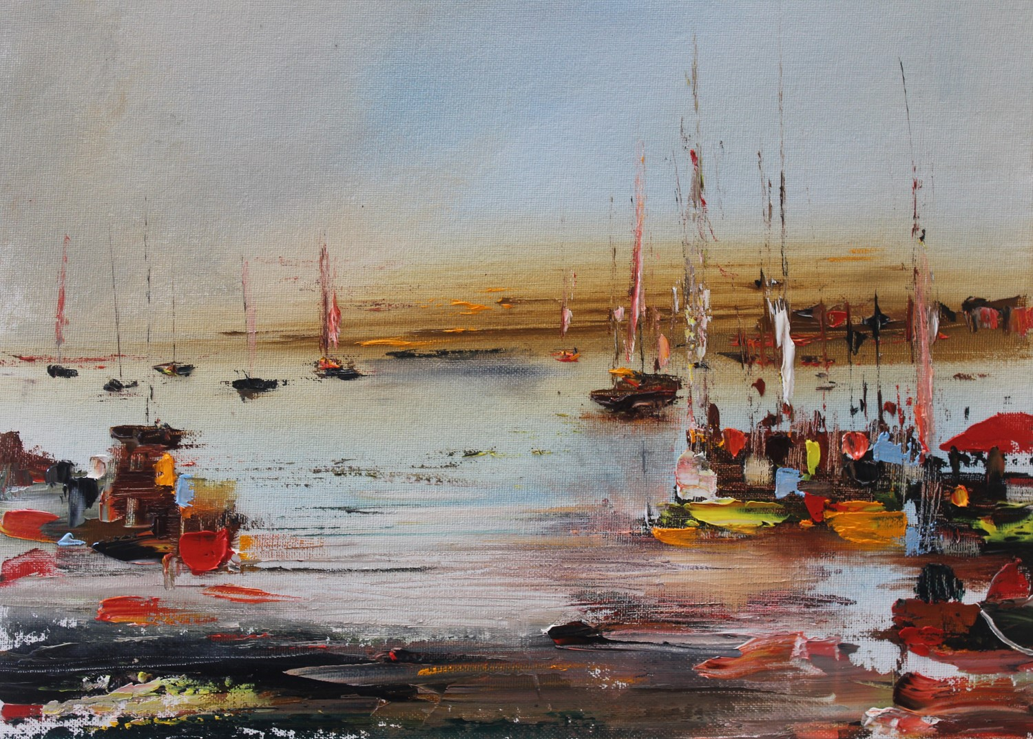 'In the Harbour' by artist Rosanne Barr