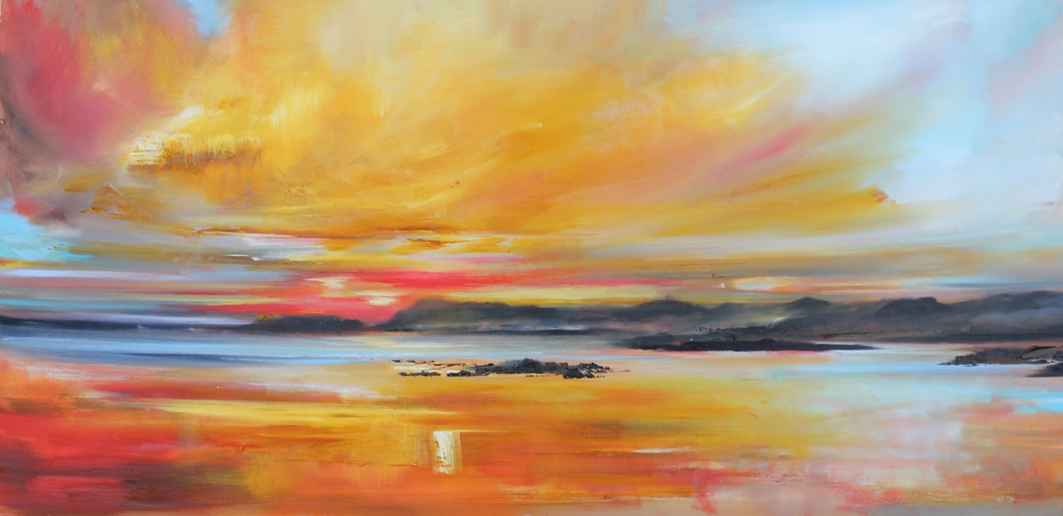 'Flaming Sky' by artist Rosanne Barr