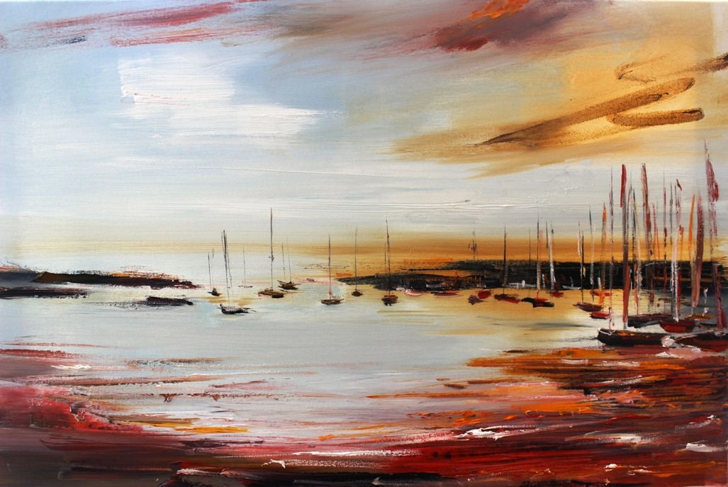 'Scattered Boats' by artist Rosanne Barr