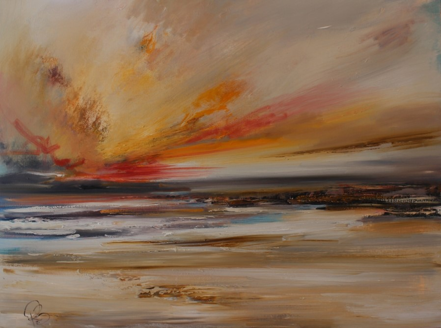 'West Coast as the Sunsets' by artist Rosanne Barr