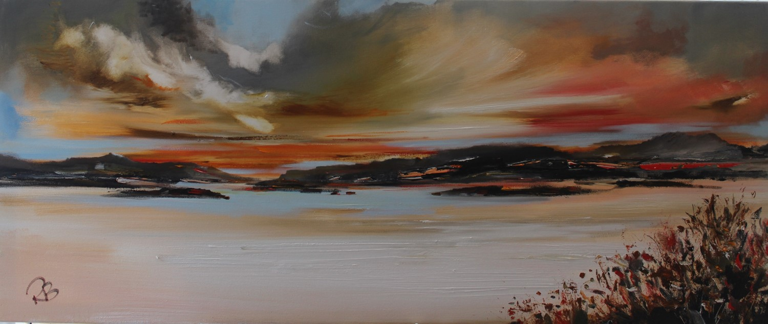 'Enjoying the sunset ' by artist Rosanne Barr