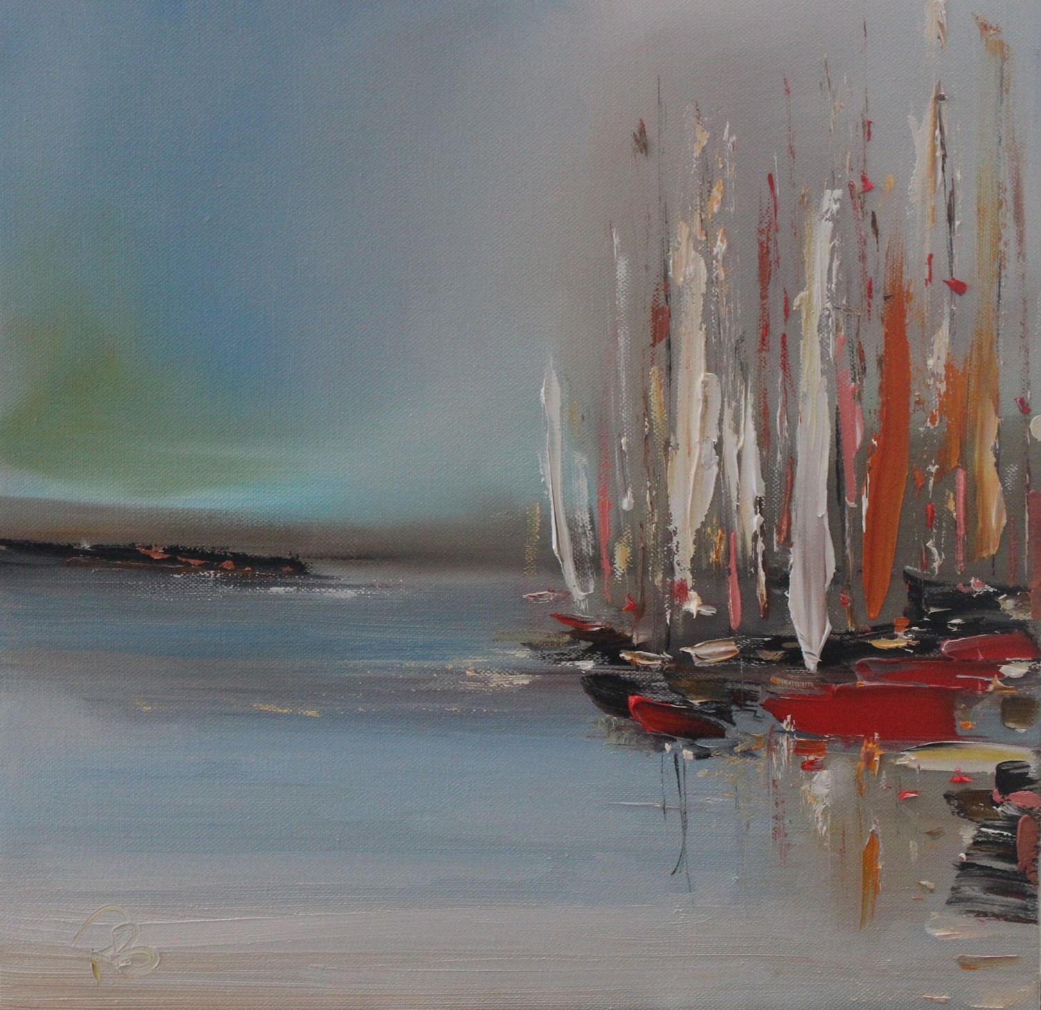 'A Crowd of Boats' by artist Rosanne Barr