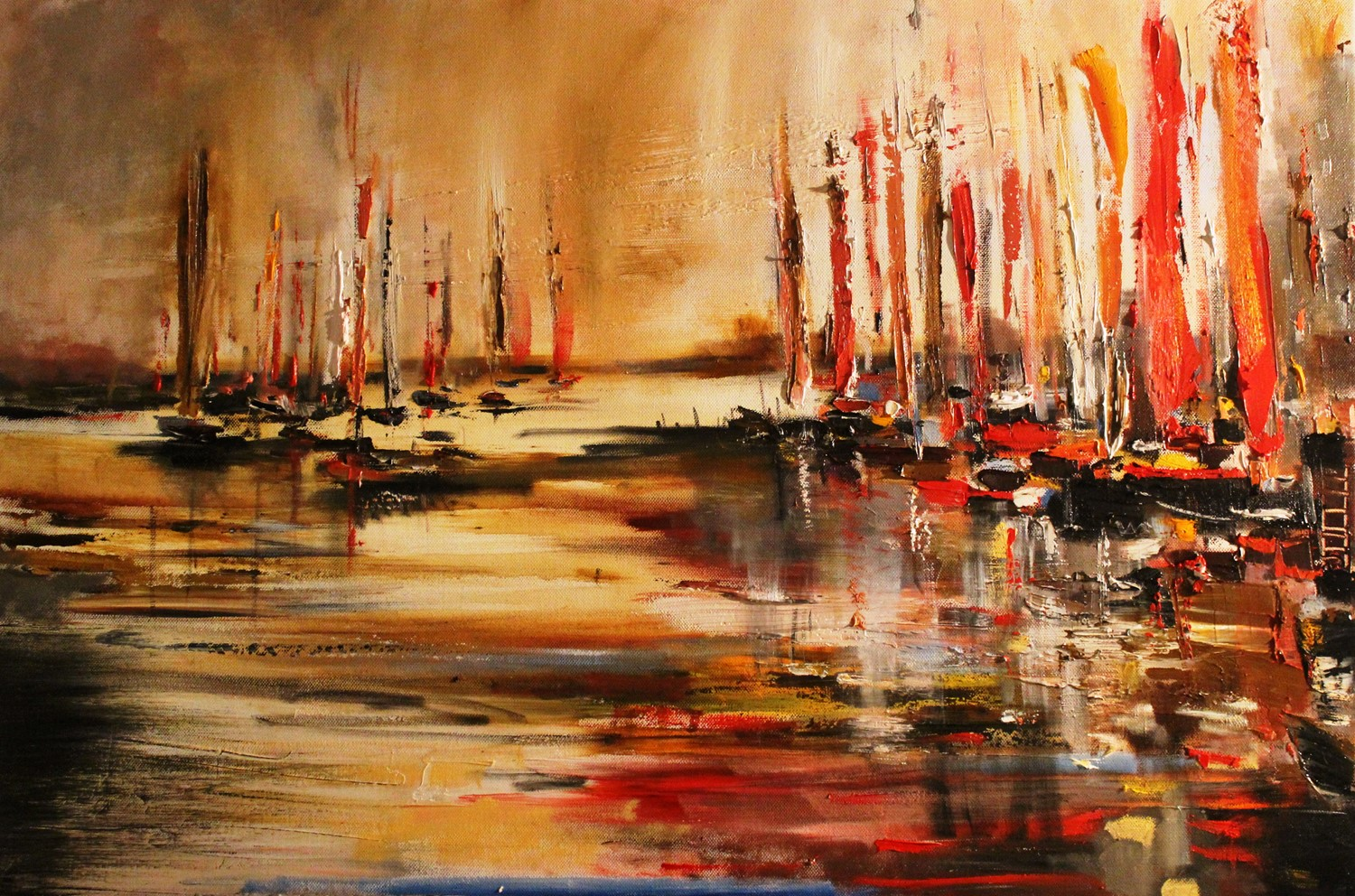 'A Cluttered Harbour' by artist Rosanne Barr