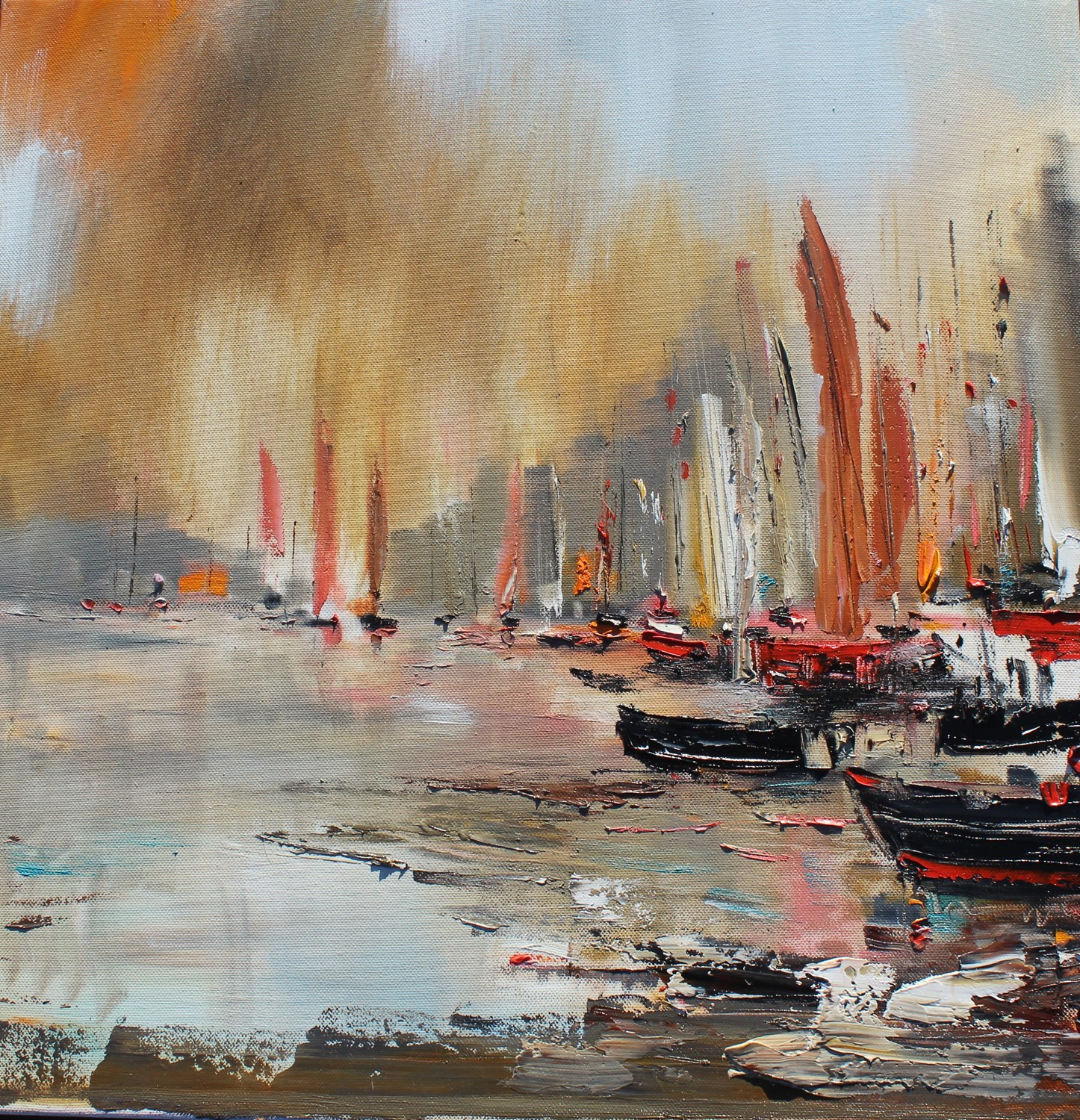 'A Fleet of Sails' by artist Rosanne Barr