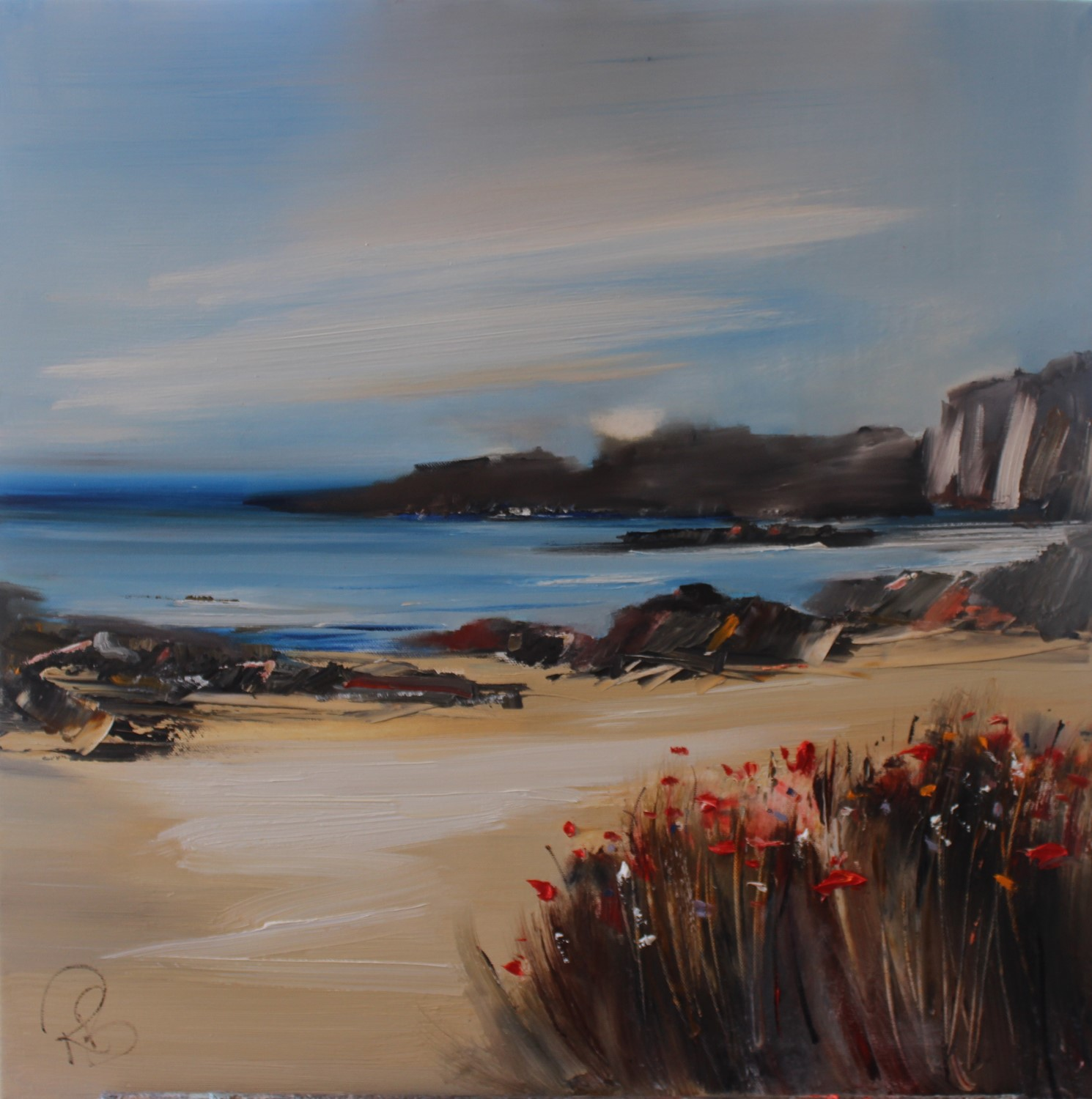 'Wild Flowers at the Beach' by artist Rosanne Barr