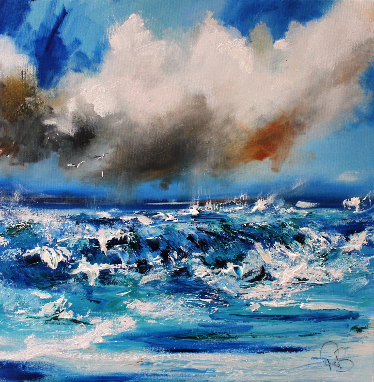 'Gulls and Sea Spray' by artist Rosanne Barr