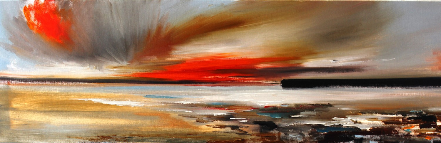 'A flash of orange ' by artist Rosanne Barr
