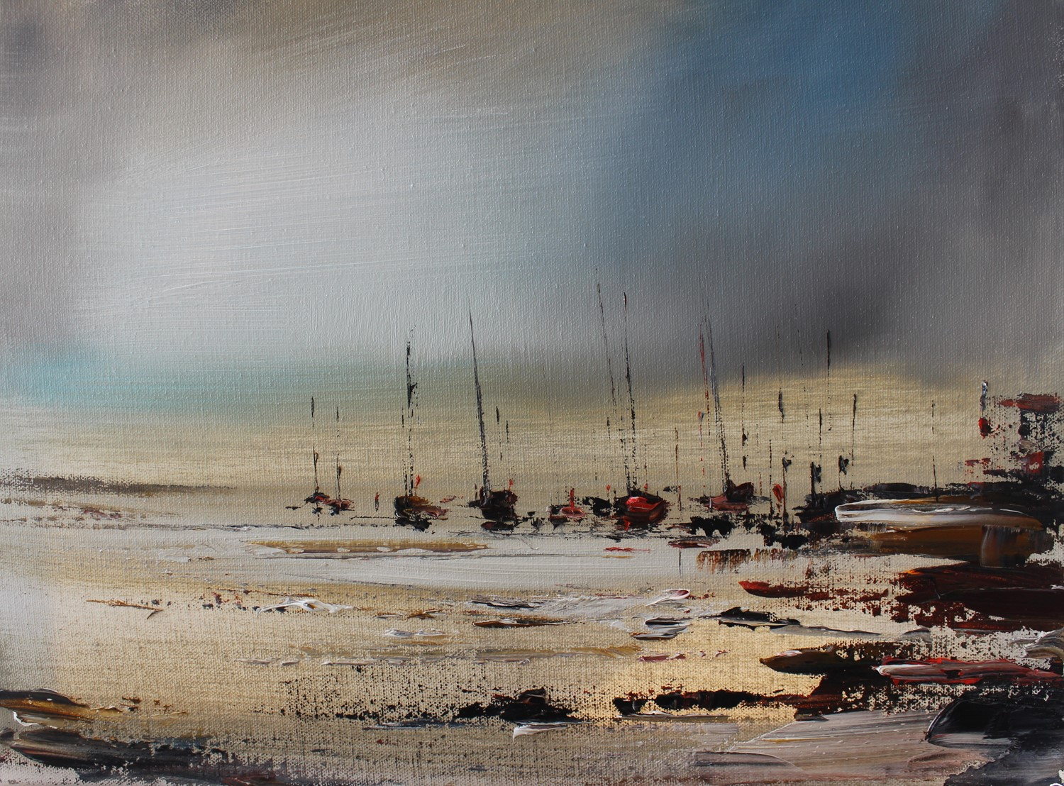 'Across the Silvery Water ' by artist Rosanne Barr