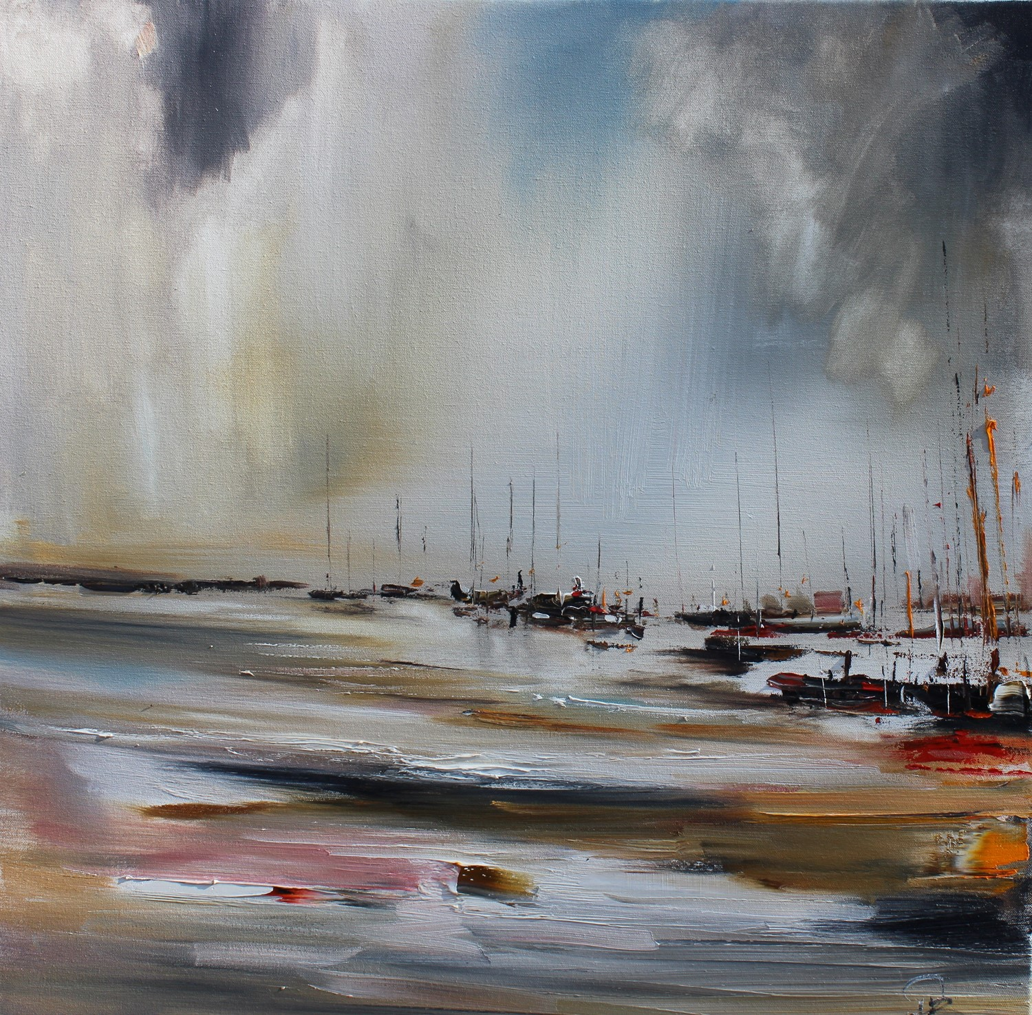 'Sailing on Silvery Waters' by artist Rosanne Barr