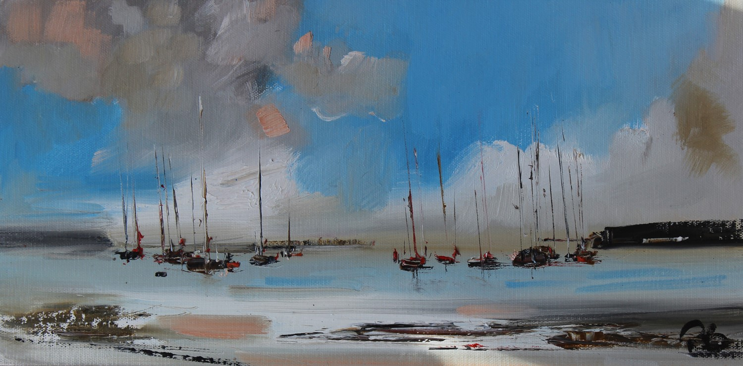 'Boats and Blue Skies II' by artist Rosanne Barr