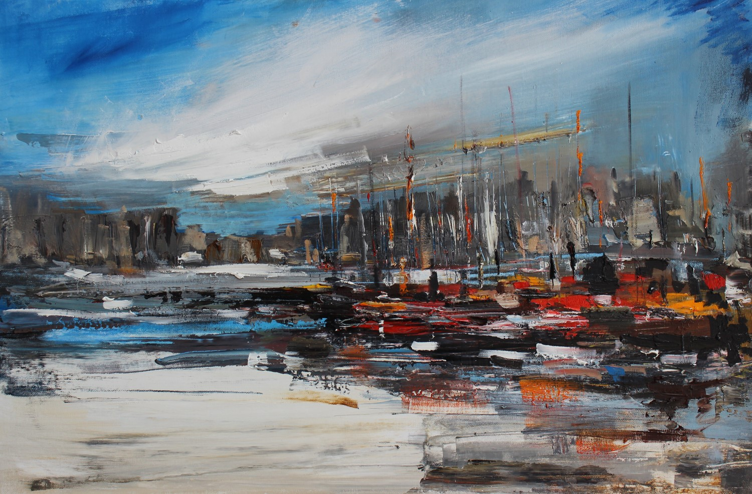 'Old Town Harbour' by artist Rosanne Barr
