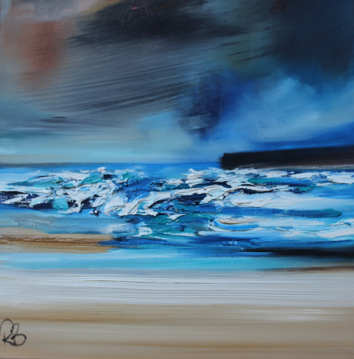 'Waves Tumbling In' by artist Rosanne Barr
