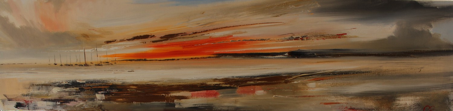 'Sun sinking into the Horizon' by artist Rosanne Barr