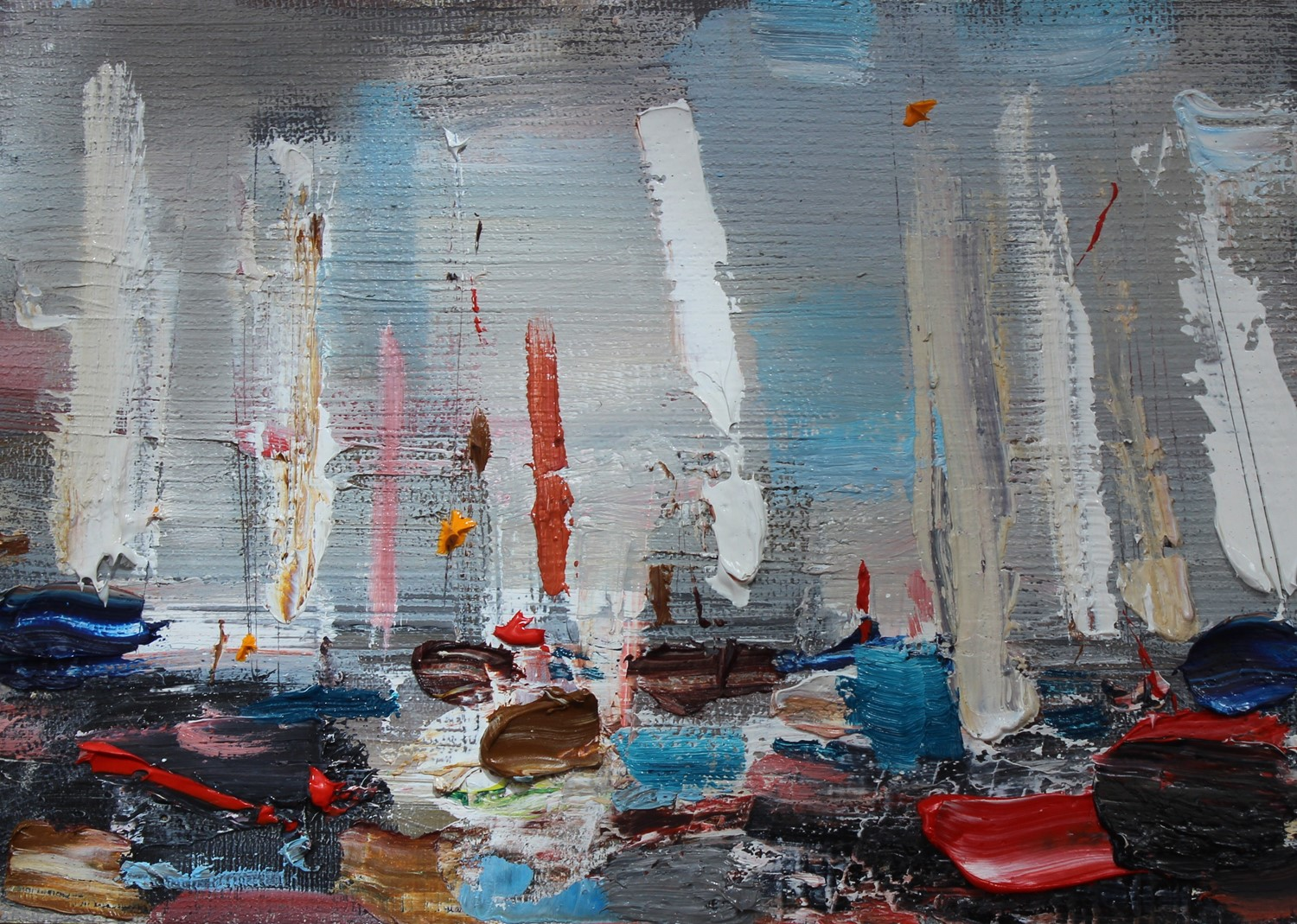 'Boats on a Grey Day' by artist Rosanne Barr