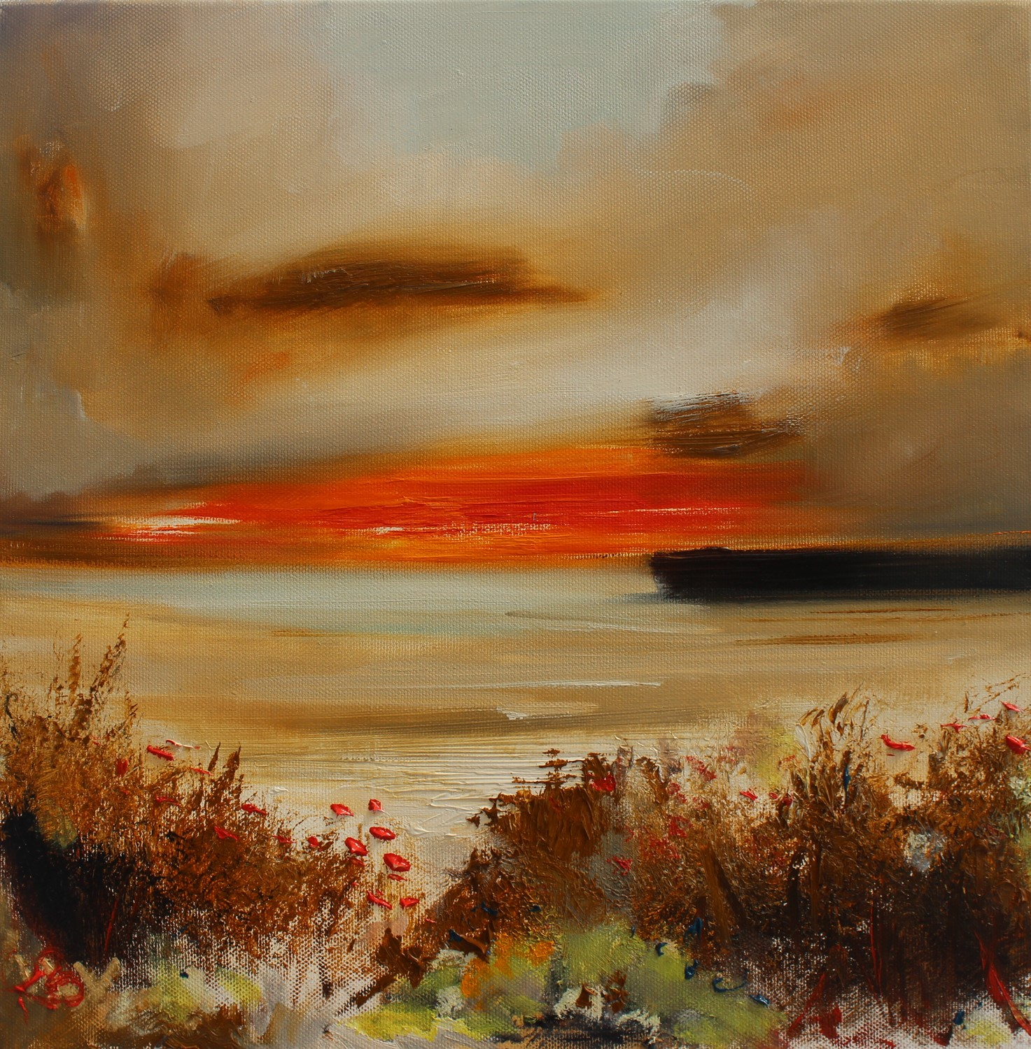 'Headed down to the Bat at Sunset' by artist Rosanne Barr