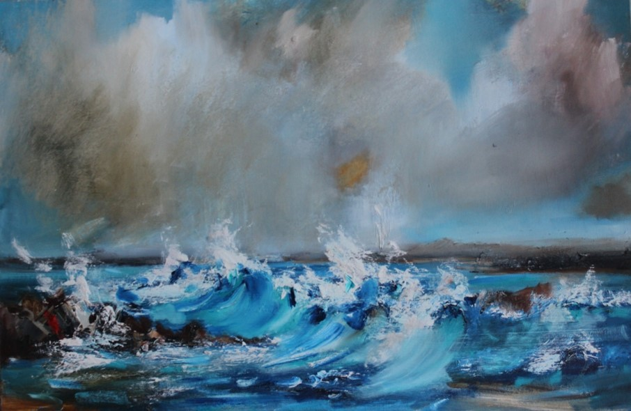 'The West Coast Surf' by artist Rosanne Barr