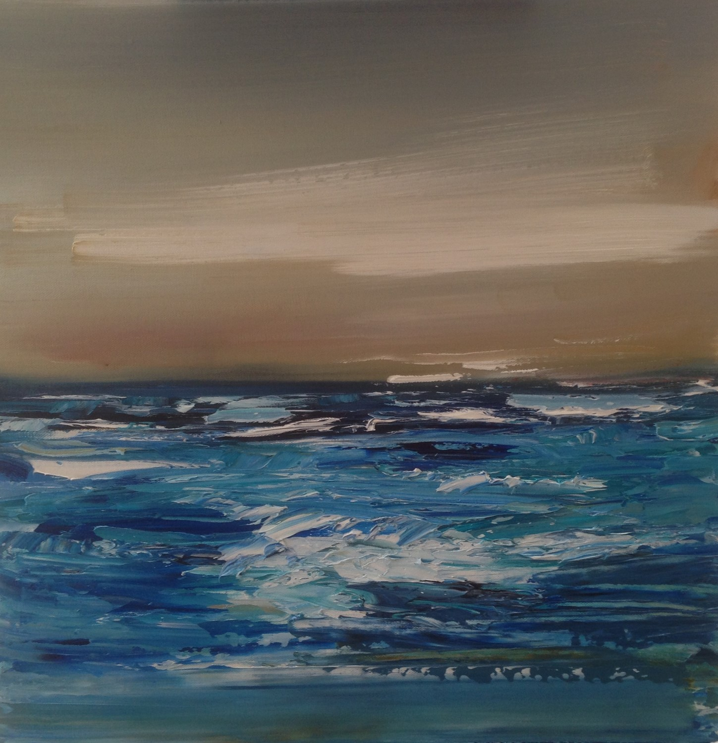'Waves on a Grey Day' by artist Rosanne Barr