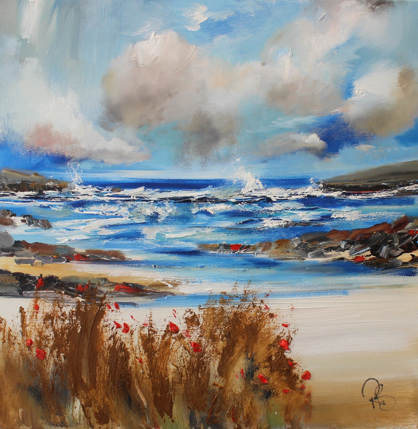 'It's Blustery by the Sea' by artist Rosanne Barr
