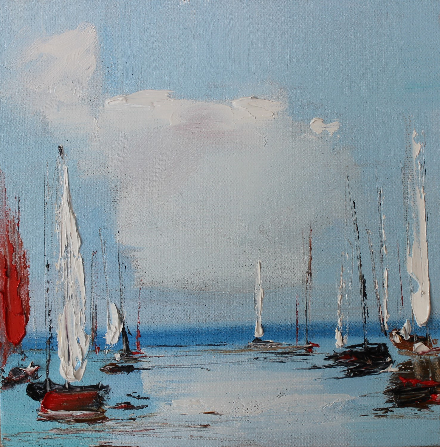 'Clouds and Boats' by artist Rosanne Barr