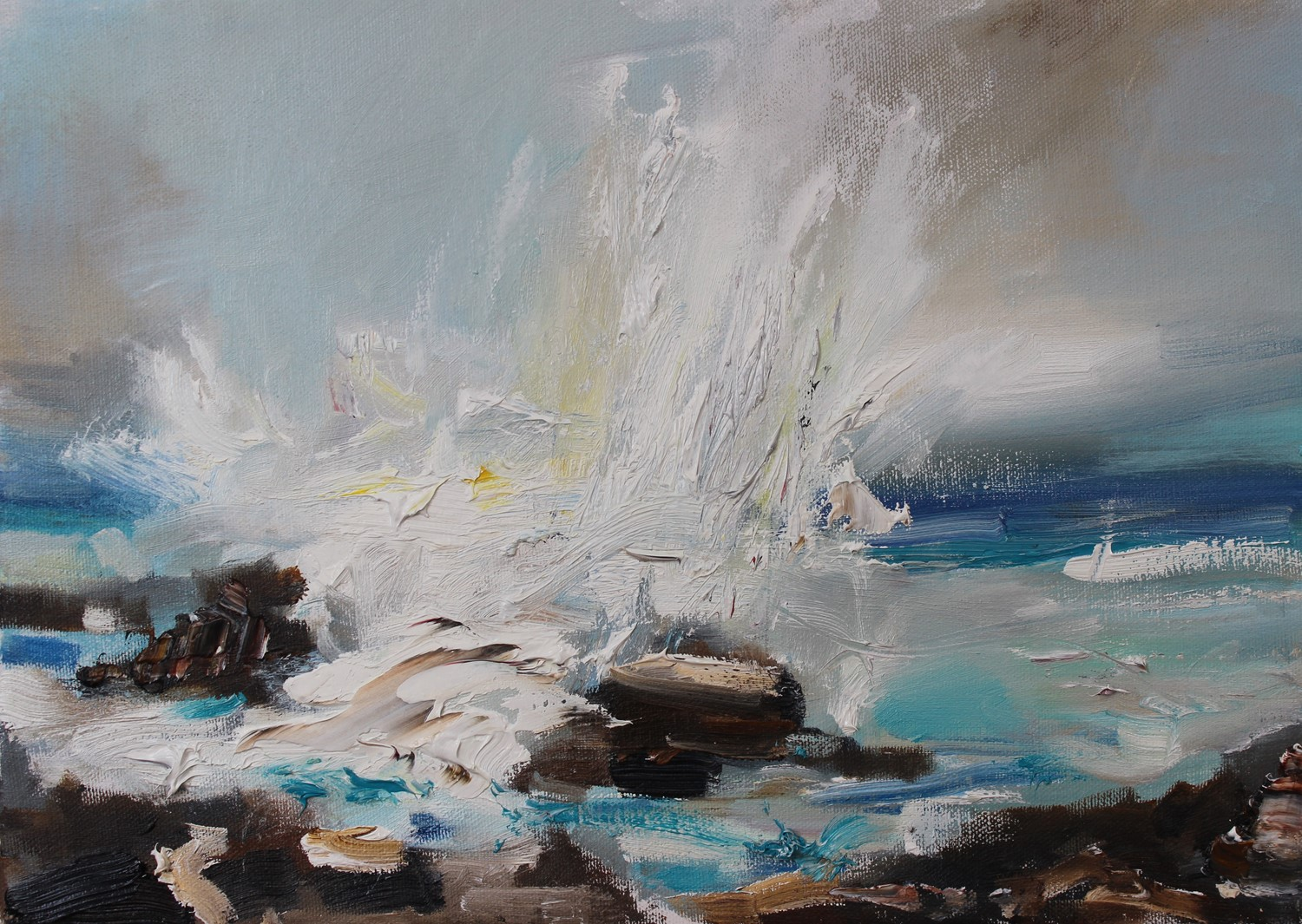 'Waves Crashing Ashore' by artist Rosanne Barr