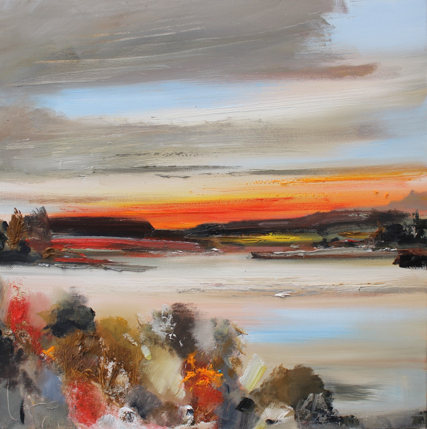 'The last moments of sunset' by artist Rosanne Barr