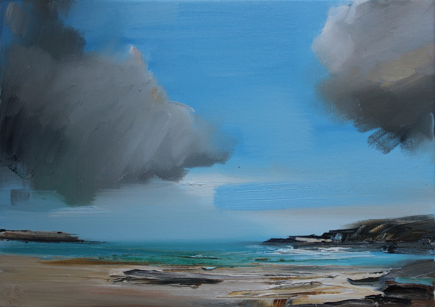 'Heavy Clouds Looming' by artist Rosanne Barr