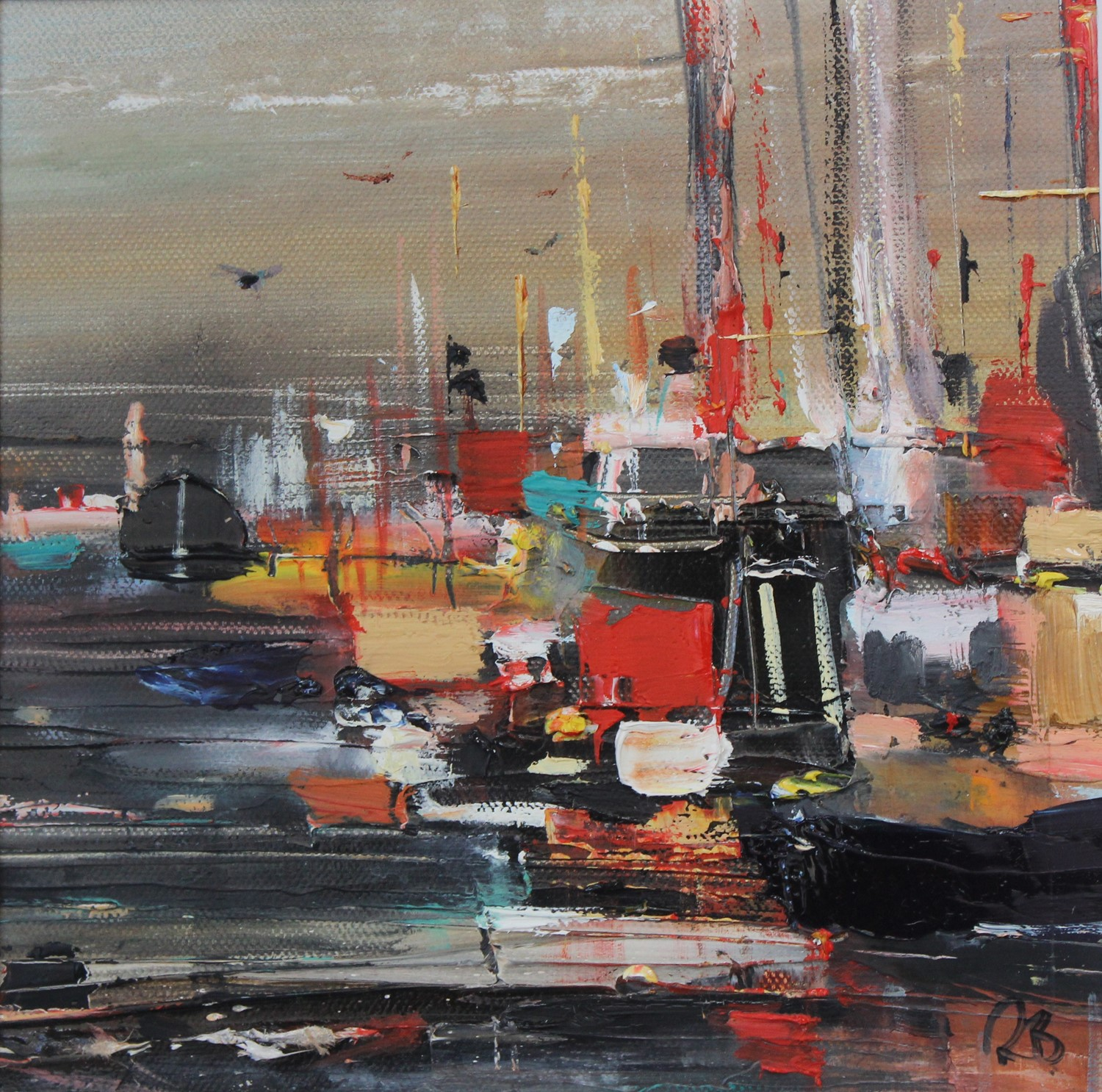 'A Busy Little Harbour' by artist Rosanne Barr