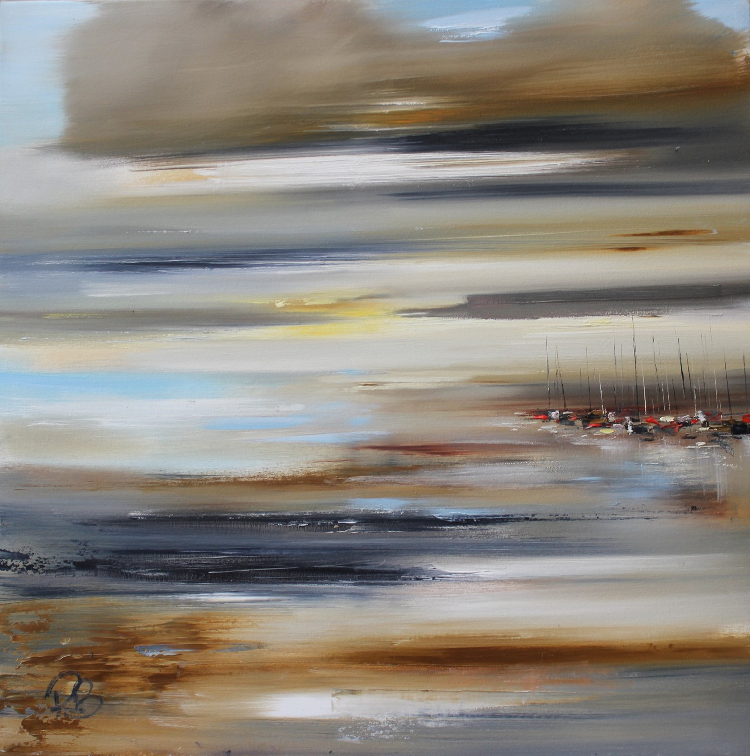 'View Across the Bay' by artist Rosanne Barr