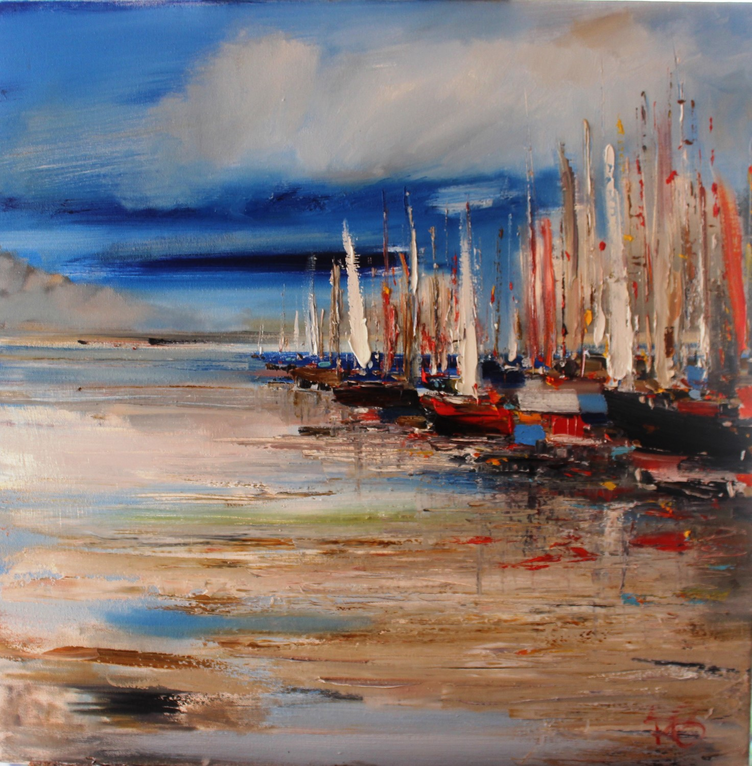 'Boats Gathered' by artist Rosanne Barr