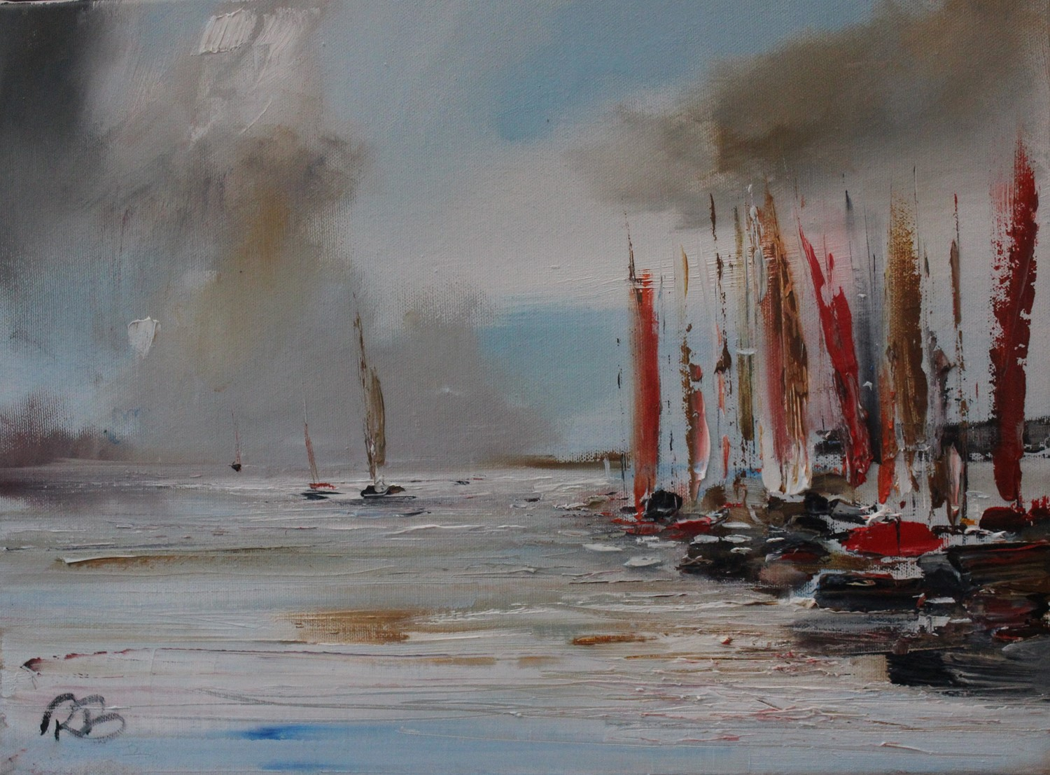 'Flurry of Sails ' by artist Rosanne Barr