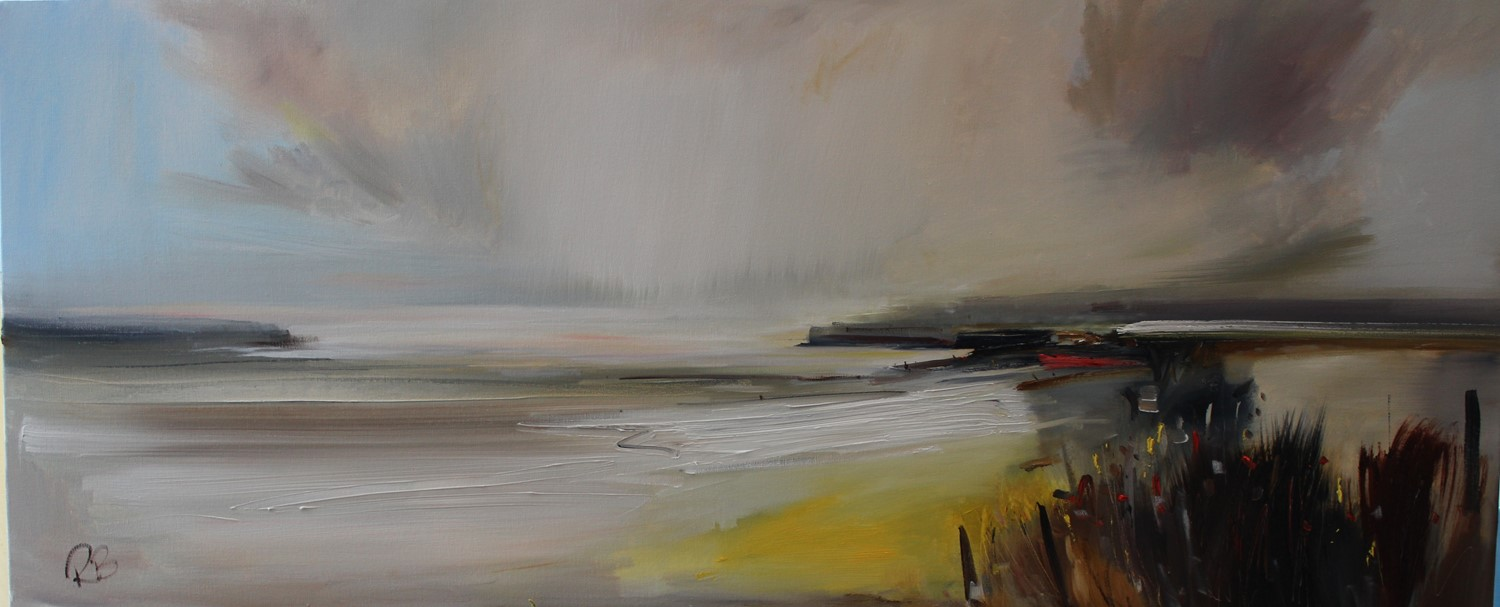'Beginning to Clear over the Headlands' by artist Rosanne Barr