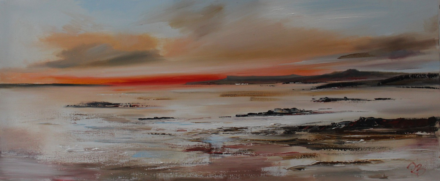 'Leaving the Sunset Behind' by artist Rosanne Barr