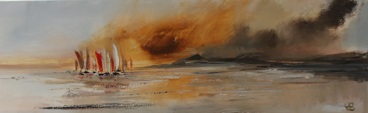 'Sails on an Ochre Night' by artist Rosanne Barr