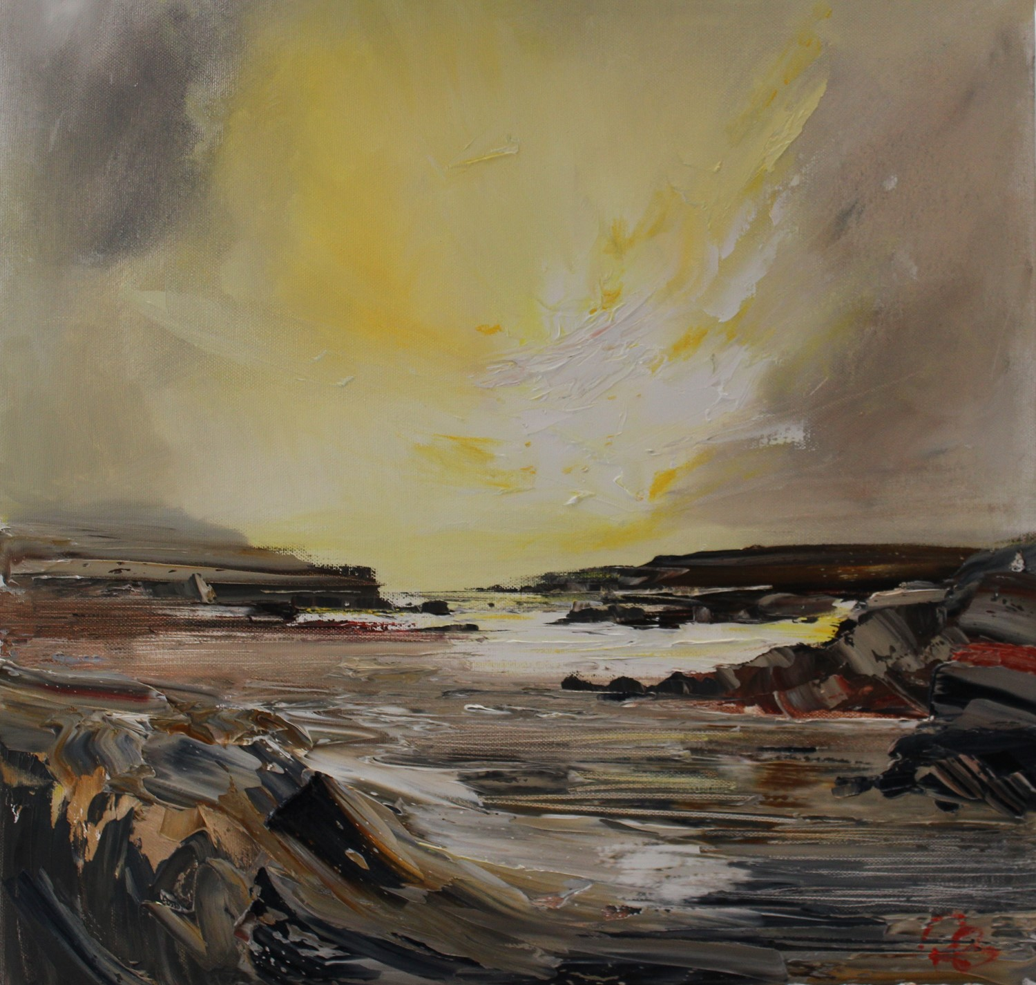 'Peninsula at Dawn' by artist Rosanne Barr