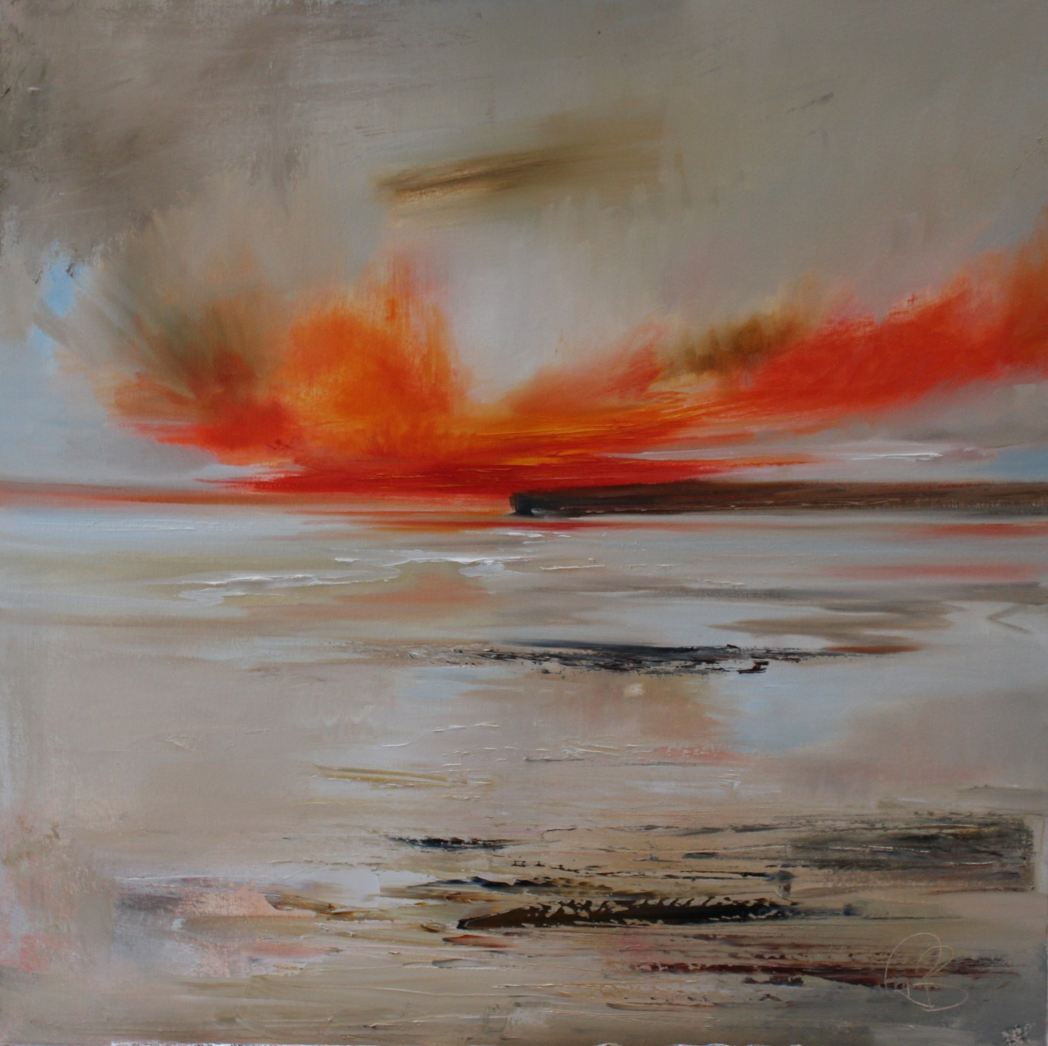 'A Flame Across the Horizon' by artist Rosanne Barr